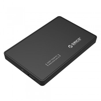 Orico 2588US3 2.5 inch USB3.0 Portable Hard Drive Enclosure - Black